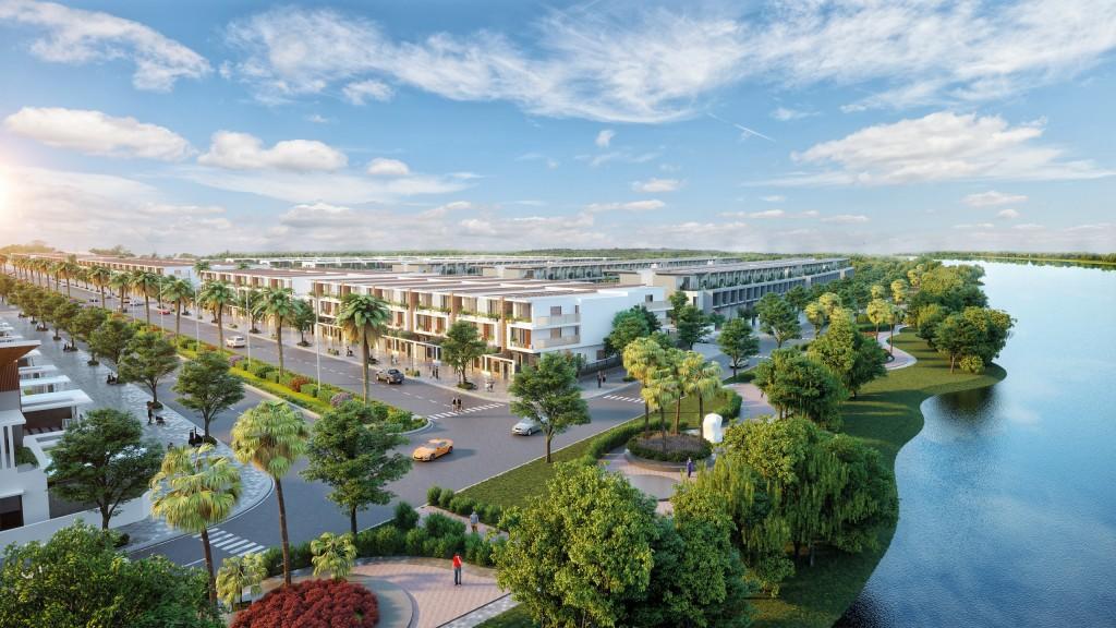 Phối cảnh tổng thể dự án Golden River Residence.