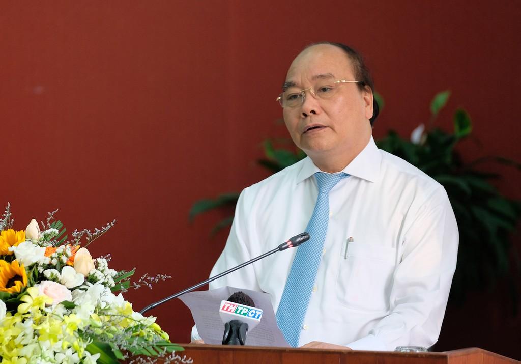 Thủ tướng Nguyễn Xuân Phúc phát biểu tại lễ ký kết. Ảnh: VGP