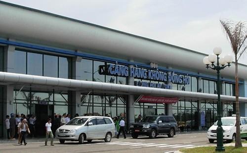 Sân bay Đồng Hới. Ảnh: G.T.