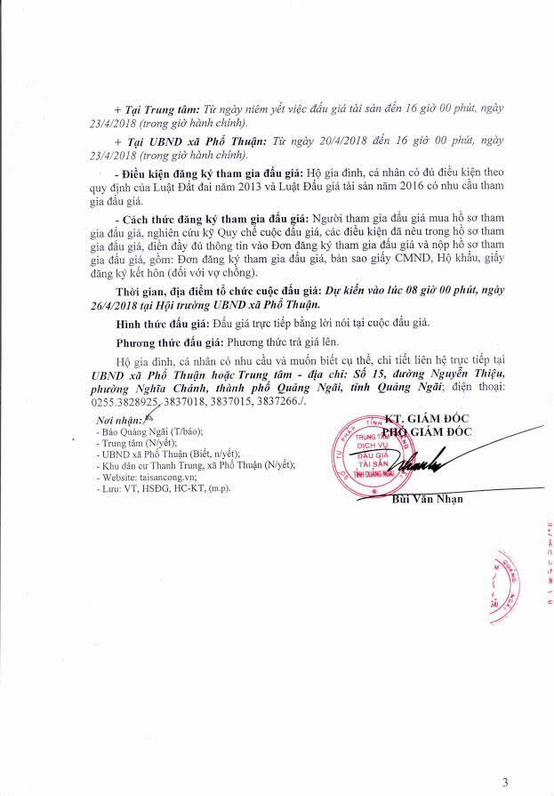 Đấu giá quyền sử dụng đất tại huyện Đức Phổ, Quảng Ngãi - ảnh 3
