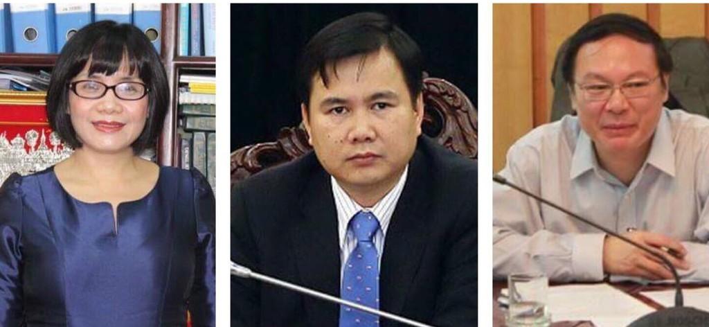 Thứ trưởng Bộ Tư pháp Đặng Hoàng Oanh, Thứ trưởng Bộ Khoa học và Công nghệ Bùi Thế Duy, Thứ trưởng Bộ Tài nguyên và Môi trường Lê Công Thành