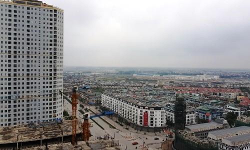 Một dự án khu đô thị gồm cả chung cư và nhà thấp tầng tại Hà Nội.