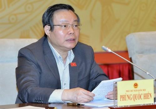 Phó chủ tịch Quốc hội Phùng Quốc Hiển.