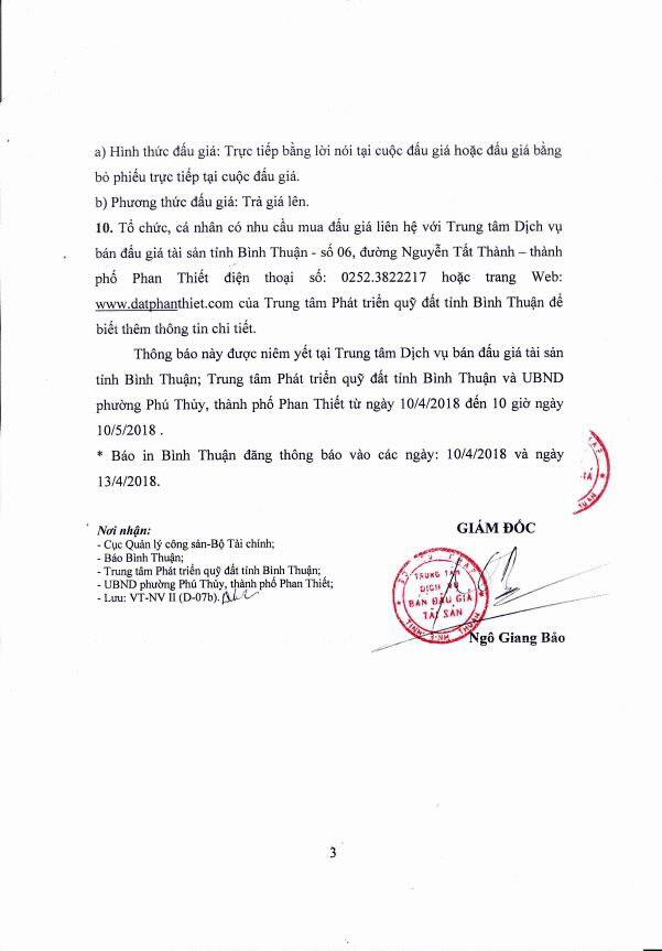 Đấu giá quyền sử dụng đất tại TP.Phan Thiết, Bình Thuận - ảnh 3