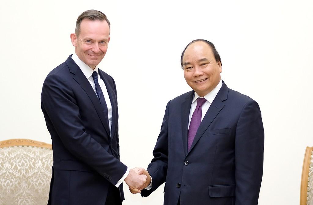 Thủ tướng Nguyễn Xuân Phúc tiếp ông Volker Wissing. Ảnh: VGP
