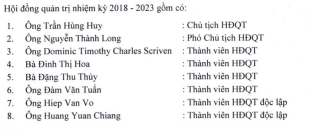 Ông Trần Hùng Huy tiếp tục làm Chủ tịch ACB - ảnh 1