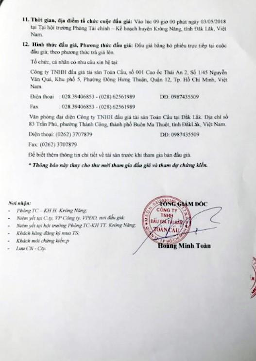 Đấu giá xe chuyên dùng chở rác tại Đắk Lắk - ảnh 3