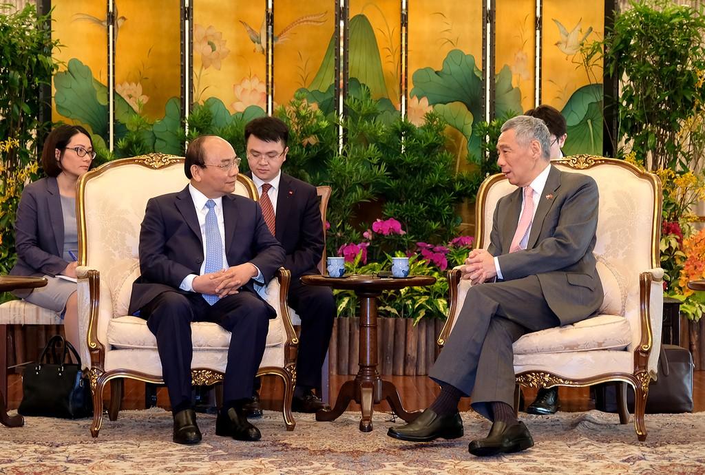 Thủ tướng Việt Nam và Singapore hội đàm - ảnh 2
