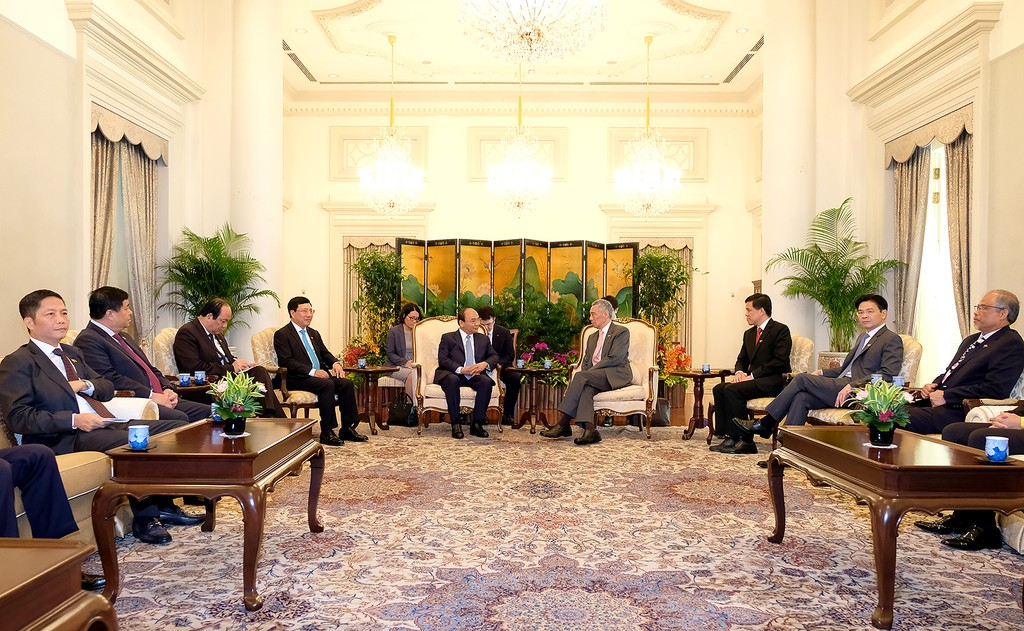 Thủ tướng Việt Nam và Singapore hội đàm - ảnh 3