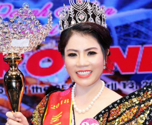 Hoa hậu doanh nhân thế giới người Việt 2018 Nguyễn Thị Nhung. Ảnh tư liệu