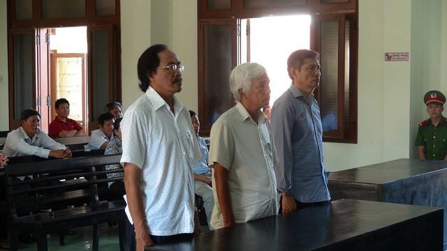 3 bị cáo trong phiên tòa xét xử sáng nay