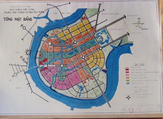 UBND TPHCM mượn bộ bản đồ Thủ Thiêm của nguyên Chủ tịch Võ Viết Thanh - ảnh 1