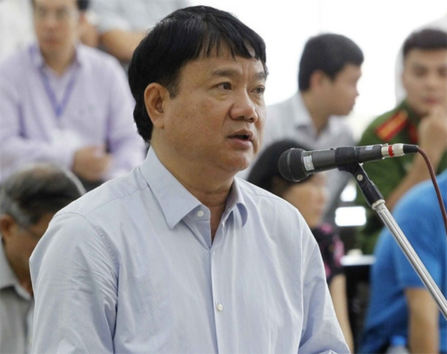 Ông Đinh La Thăng tại phiên tòa ngày 9/5. Ảnh: TTXVN
