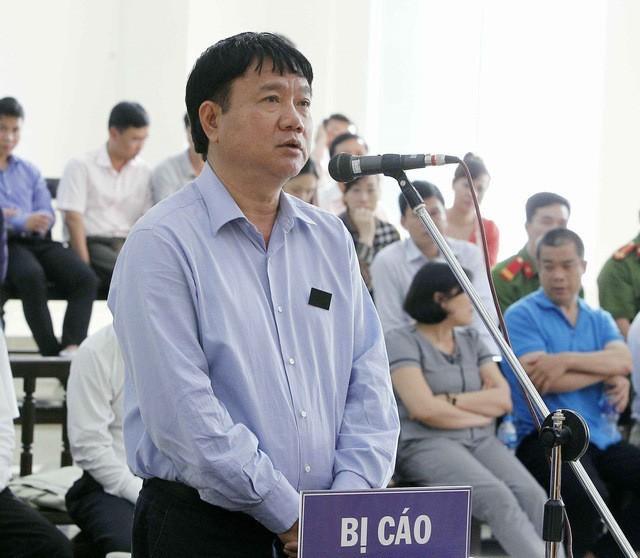 Bị cáo Đinh La Thăng tại phiên xử phúc thẩm.