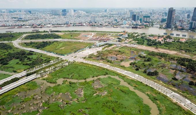 Hiện trạng bốn tuyến đường giá 12.000 tỷ đồng ở Thủ Thiêm - ảnh 4