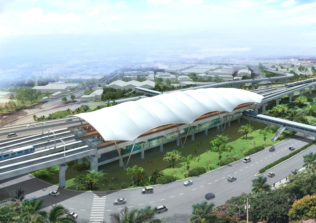 Phối cảnh nhà Ga Tân Cảng - điểm kết thúc của tuyến metro số 5
