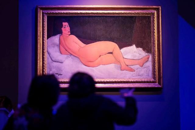Bức tranh người đàn bà khỏa thân 'Nu couche (sur le cote gauche)' của danh họa người Italy Amedeo Modigliani. (Nguồn: New York Times)