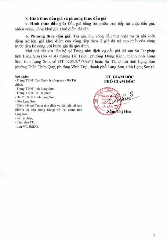 Đấu giá quyền sử dụng đất và TSGLVĐ tại thành phố Lạng Sơn, Lạng Sơn - ảnh 3