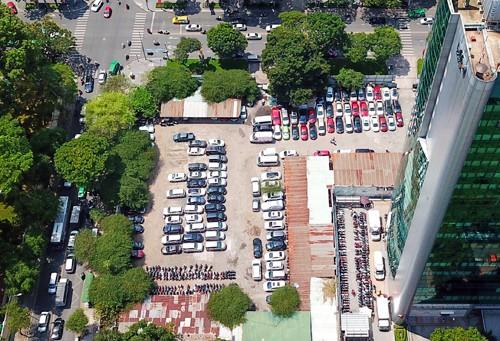 Lô đất 5.000 m2 đã được giao để triển khai dự án từ nhiều năm nay nhưng hiện vẫn làm bãi đỗ xe.