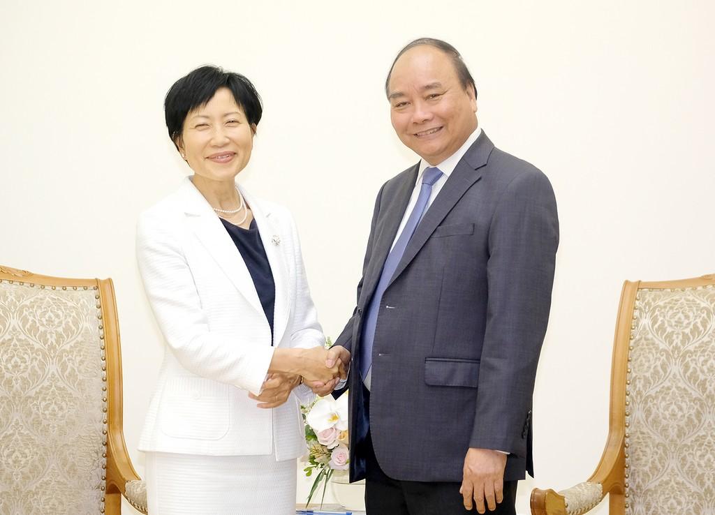 Thủ tướng tiếp Giám đốc điều hành kiêm Chủ tịch Quỹ Môi trường toàn cầu. Ảnh: VGP