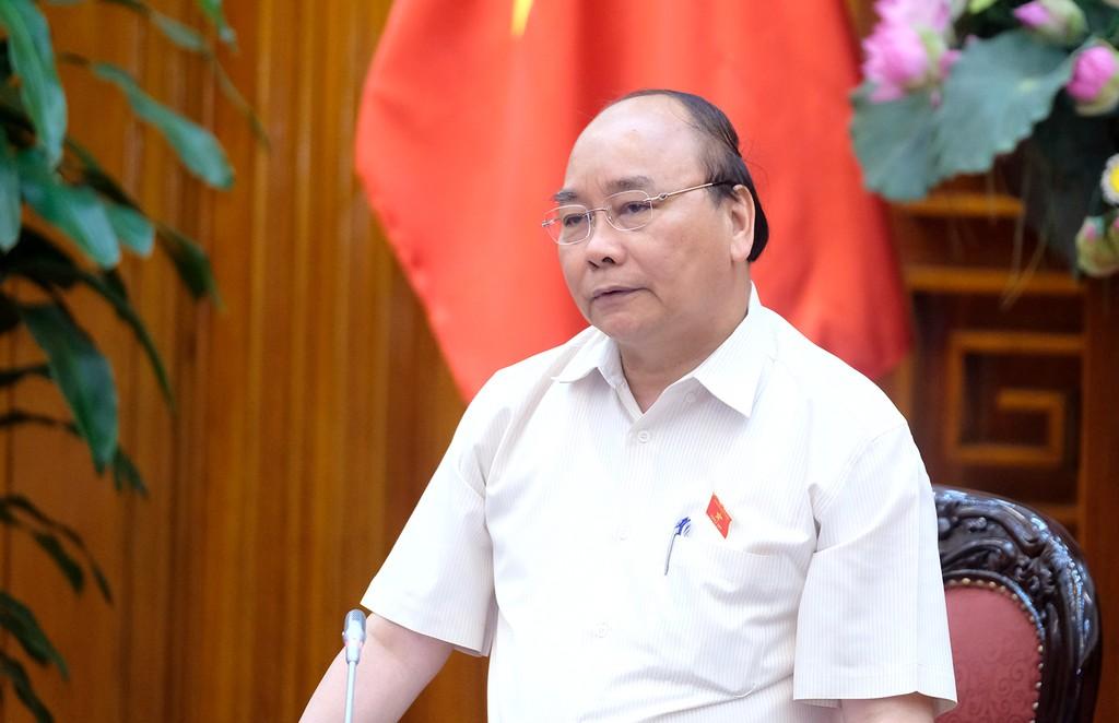 Thủ tướng Nguyễn Xuân Phúc làm việc với lãnh đạo tỉnh Bình Thuận. Ảnh: VGP