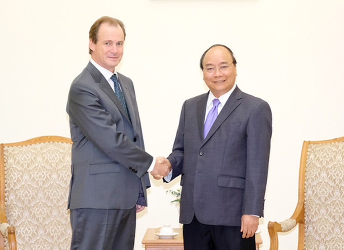 Thủ tướng Nguyễn Xuân Phúc và Thống đốc tỉnh Entre Ríos Bordet Gustavo Eduardo. Ảnh: VGP