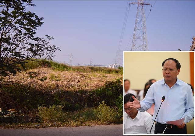 Một góc khu đất tại xã Phước Kiển, huyện Nhà Bè được UBND TP chấp thuận cho Công ty TNHH một thành viên đầu tư và xây dựng Tân Thuận thực hiện dự án và ông Tất Thành Cang (ảnh nhỏ) - Ảnh: XUÂN HƯNG, tư liệu Tuổi Trẻ