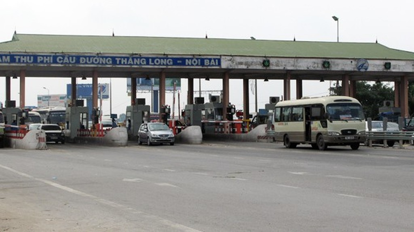 Trạm Bắc Thăng Long - Nội Bài đang thu phí hoàn vốn cho dự án tuyến tránh thành phố Vĩnh Yên (tỉnh Vĩnh Phúc).