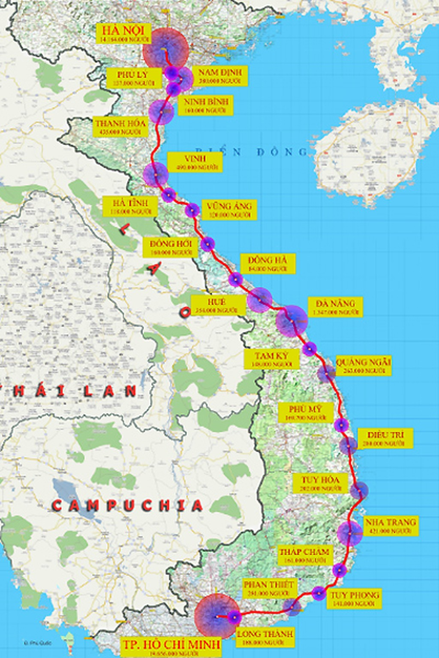 Tuyến đường sắt tốc độ cao Bắc - Nam sẽ chạy qua những tỉnh nào? - ảnh 1