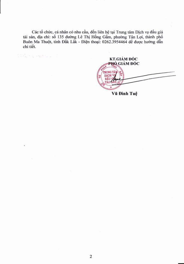 Đấu giá tang vật vi phạm hành chính bị tịch thu tại Đắk Lắk - ảnh 2