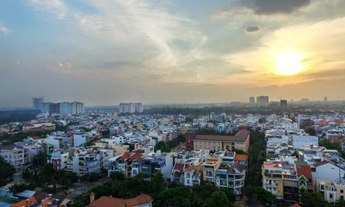 Nhà phố tại khu Nam Sài Gòn.