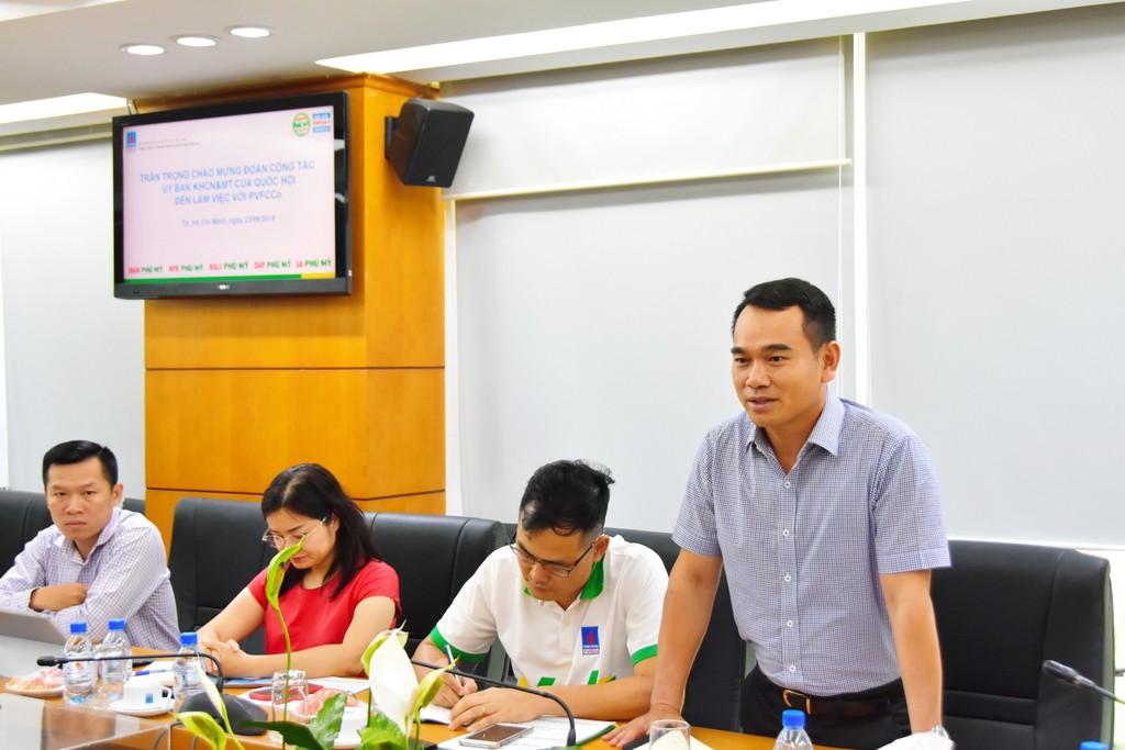 Đoàn công tác của Quốc hội làm việc với PVFCCo - ảnh 1