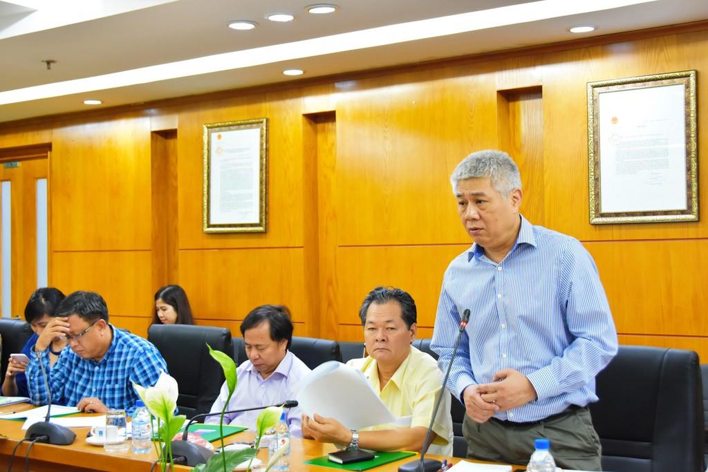 Đồng chí Nguyễn Vinh Hà phát biểu tại buổi làm việc