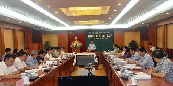 Ủy ban Kiểm tra Trung ương thông báo kết quả Kỳ họp 27