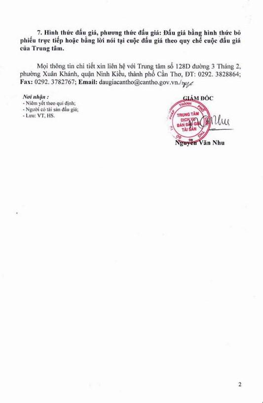 Đấu giá quyền thuê mặt bằng tại Bệnh viện Nhi đồng thành phố Cần Thơ - ảnh 2