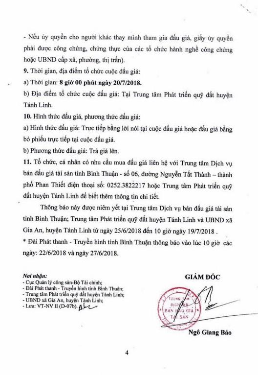 Đấu giá quyền sử dụng đất tại huyện Tánh Linh, Bình Thuận - ảnh 4
