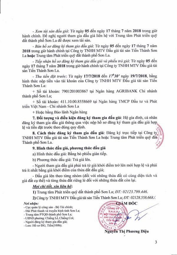 Đấu giá quyền sử dụng đất tại thành phố Sơn La, Sơn La - ảnh 3
