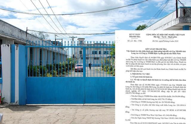 Thanh tra Bộ Tư pháp chỉ rõ nhiều vi phạm nghiêm trọng trong thi hành án tại Công ty CP Dệt Long An.