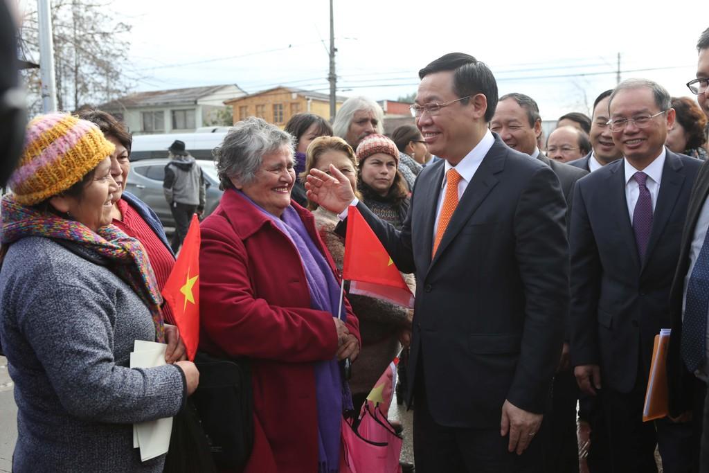 Phó Thủ tướng Vương Đình Huệ dâng hoa tại Công viên Hồ Chí Minh (Chile) - ảnh 1