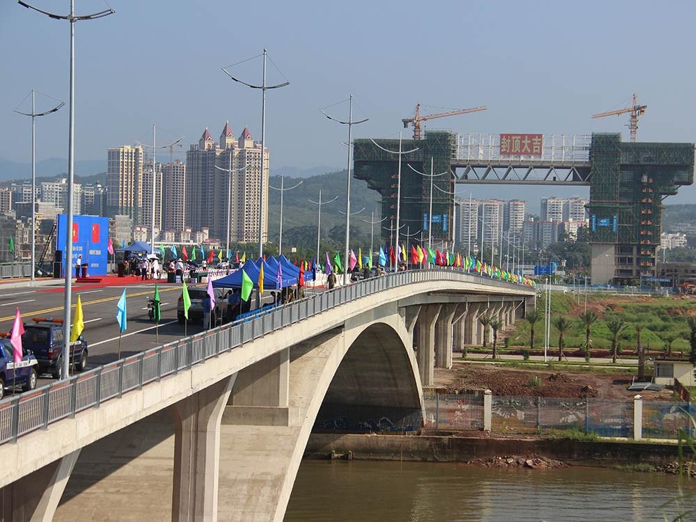 Cầu Bắc Luân 2 nối hai tỉnh Quảng Ninh (Việt Nam) và Quảng Tây (Trung Quốc). Ảnh Internet