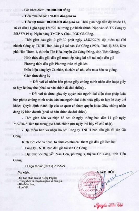 Đấu giá quyền khai thác sò giống tại Tiền Giang - ảnh 2