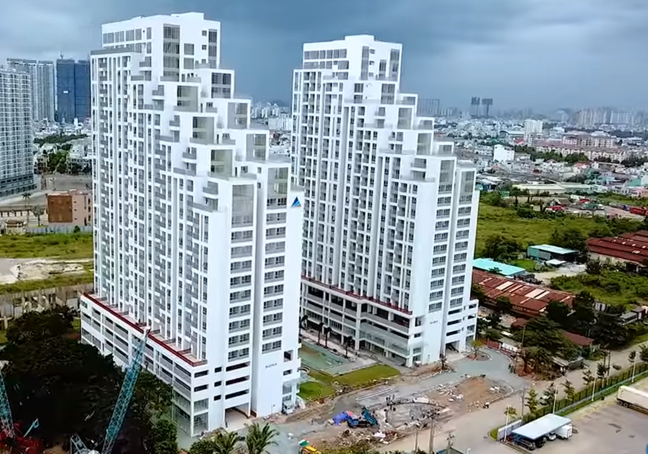 Miếng đất được Đất Xanh xây dựng thành dự án Lux Garden