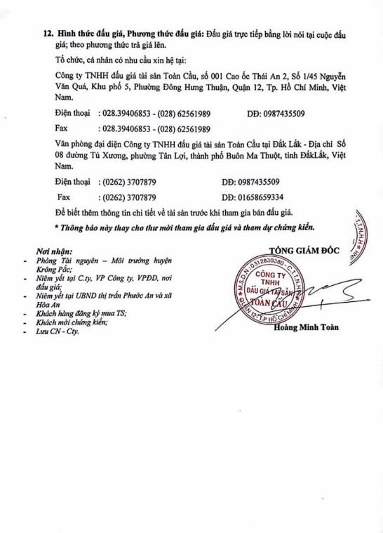 Đấu giá quyền sử dụng đất tại huyện Krông Pắc, Đắk Lắk - ảnh 3