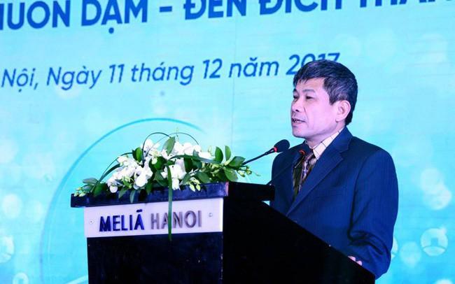 Ông Cát Quang Dương tại một hội nghị của VietinBank hồi cuối năm 2017