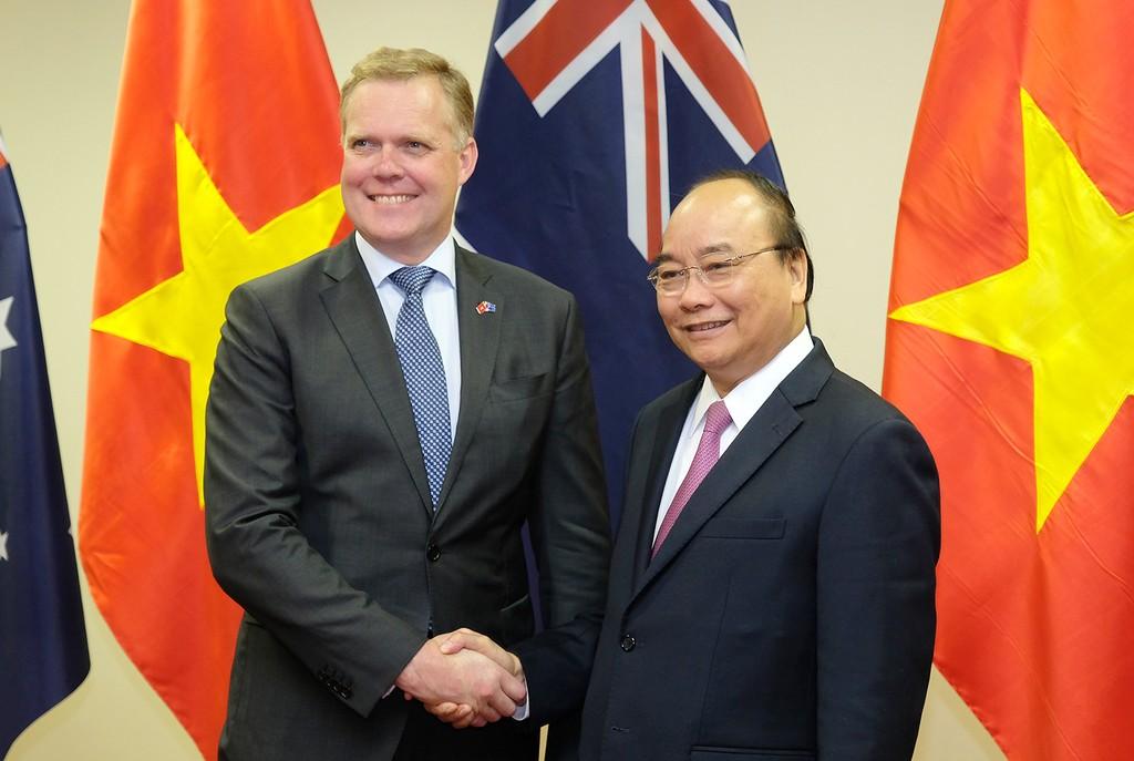 Thủ tướng Nguyễn Xuân Phúc tiếp Chủ tịch Hạ viện Australia Tony Smith. Ảnh: VGP