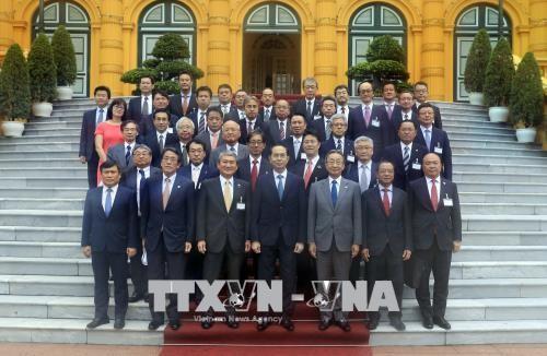 Chủ tịch nước Trần Đại Quang và đoàn đại biểu Uỷ ban Kinh tế Nhật - Việt thuộc Keidanren