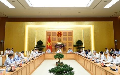 Phiên họp Ban Chỉ đạo quốc gia về cơ cấu lại nền kinh tế, đổi mới mô hình tăng trưởng. Ảnh: VGP