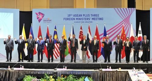 Các Bộ trưởng dự Hội nghị Bộ trưởng Ngoại giao ASEAN+3. Ảnh: BNG cung cấp
