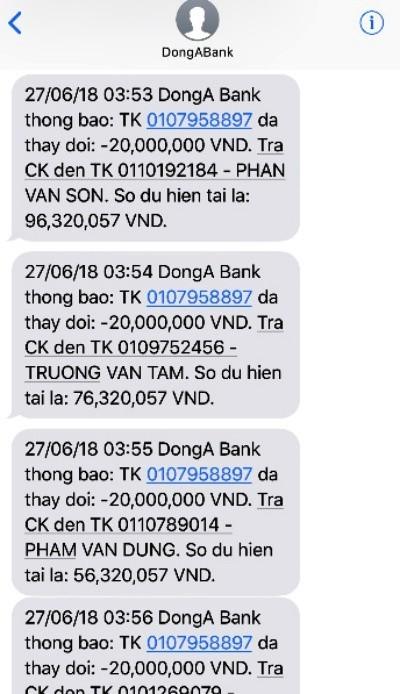 """Vụ """"bốc hơi"""" 116 triệu đồng tại DongA Bank: Chuyển hồ sơ cho cơ quan điều tra - ảnh 2"""