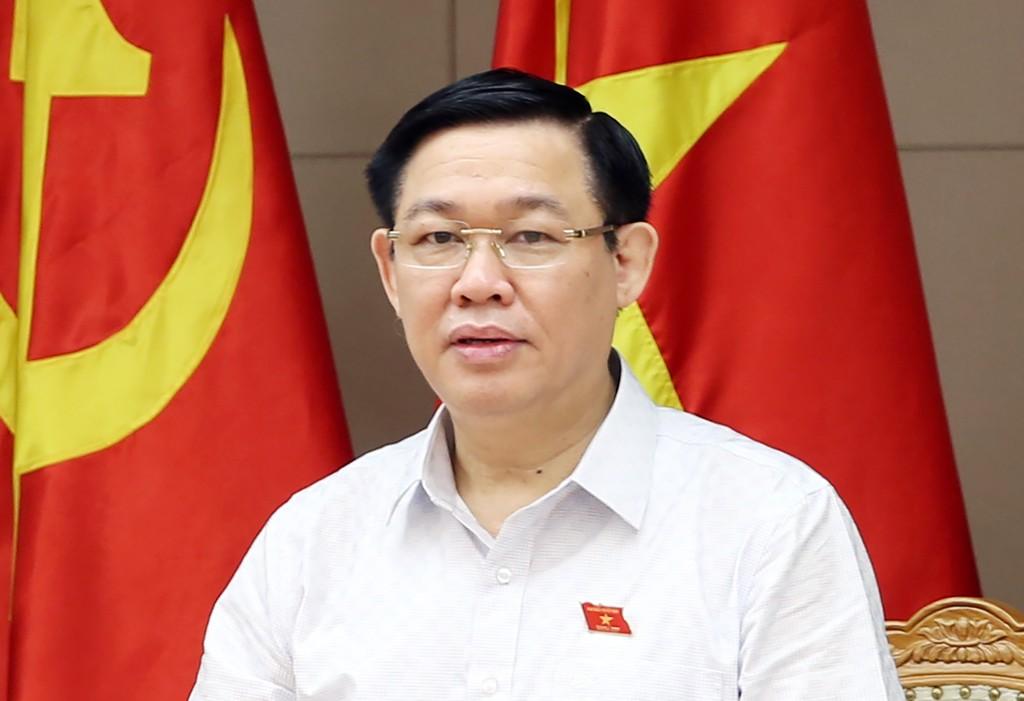 Phó Thủ tướng Vương Đình Huệ chủ trì cuộc họp góp ý xây dựng Nghị định của Chính phủ về tổ chức và hoạt động của Quỹ Phát triển DNNVV. Ảnh VGP